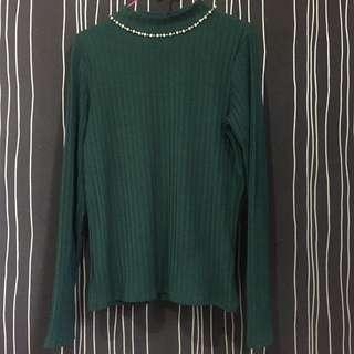 blouse hijau payet