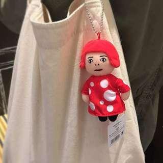 ☆現貨☆ 草間彌生 娃娃 日本 展場限定 普普風 點點 吊飾 鑰匙圈 保證正品 仿冒必退