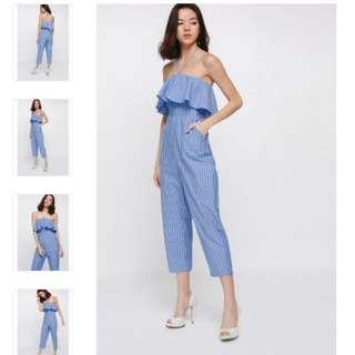 (NEW) Love, Bonito - Jenay Striped Jumpsuit (STILL WITH TAG)