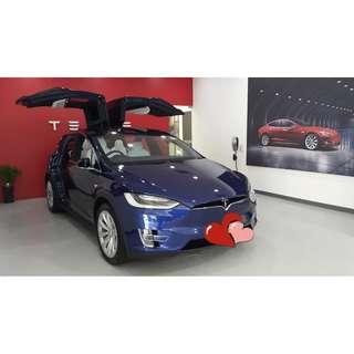 Tesla Model X 結婚 花車 💐🚗🤵👰 -  🎉優惠價$1800/3小時👍 - 婚禮花車出租連司機服務 Tesla Model X Wedding Car $1800/3hours