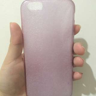 IPHONE 6 jelly transparent case (purple)
