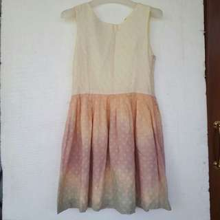 Modern Batik Dress With Eyelet Cotton Size M