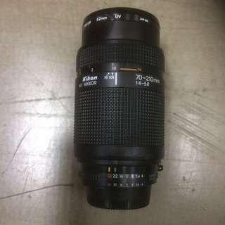 Nikkon AF Nikkor 70-210mm Lens With Lens Cap