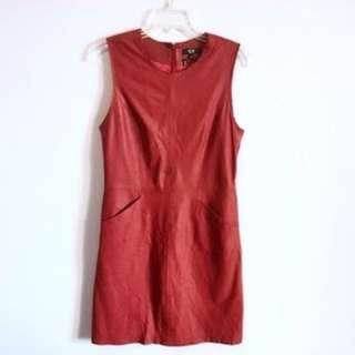 SAS Sportswear Leather Dress (Red)