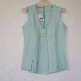 Linen Sleeveless Top Size M