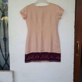Linen Tenun Dress Size M