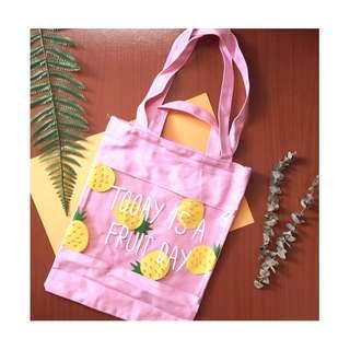 NEW ‼️新品 |帆布拼接沙灘遊泳包卡通水果泳衣收納包透明收納包袋