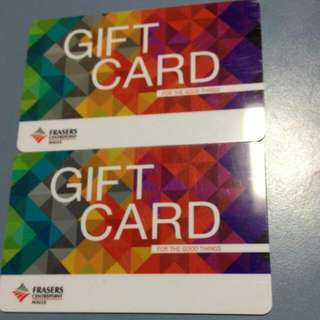 Trade Mine capital mall vouchers to Fraser Gift card