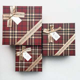 Gift Box 3in1 checkered