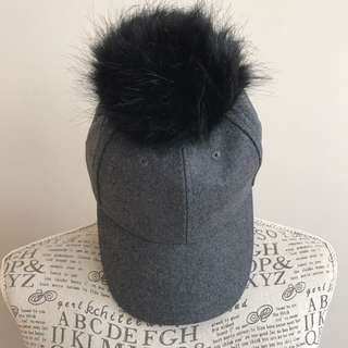 New Look Faux Fur Pom Cap