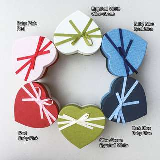 Gift Box Heart with ribbon