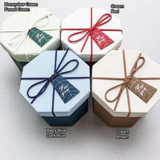 Gift box octagon japanese style