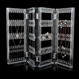 Acrylic Jewelry Necklace Earrings Transparent Organizer Earring box