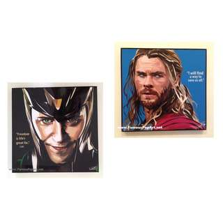 Thor and Loki  PopArt! Portrait Wall Decoration