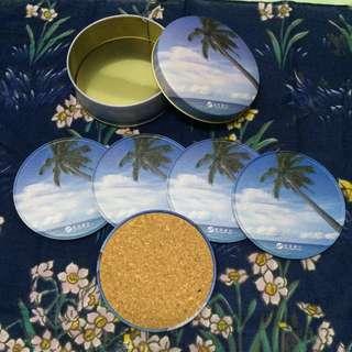 二手 夏季 藍天棕櫚🌴杯墊 (5個)(不含運)