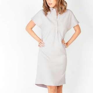 Gray Pink Manila Collared Dress