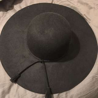 BNWT MYER Miss Shop Hat Black Wide Brim