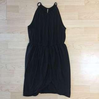 Lippy Black Silk Dress