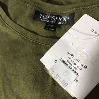 (NEW) Topshop Roll Up Tee