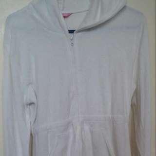 Victoria's Secret White Hoddie Dress