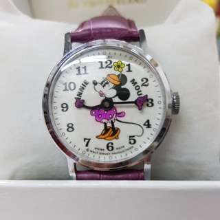 vintage wind up swiss made Minnie mouse Bradley large size watch. Mickey mouse darling