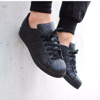 newest 31031 a7c4f adidas Men Originals Superstar Foundation Shoes triple BLK   BELOW SRP