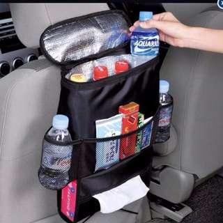 Car Seat Back Multi-Pocket Storage Cool Hot Bag Organizer