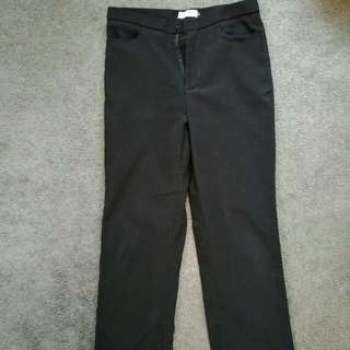Black Work Pants Size 8-10