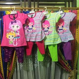 Baju Anak Perempuan 1 Set Baju Dan Celana
