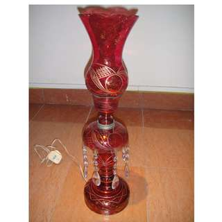 Antique Style Red Glass Table Lamp