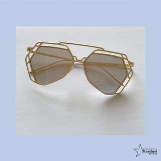 Starry Gold Black Kacamata Fashion ( Sunglasses )