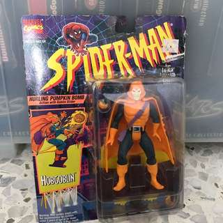 Spider-Man Hurling Pumpkin Bomb Action With Globulin Glider