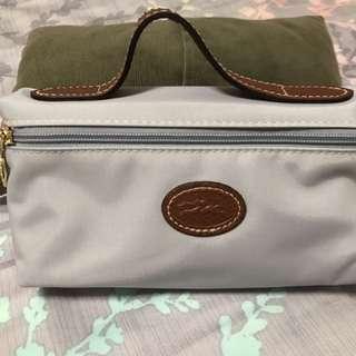 Authentic Longchamp Cosmetic Case Grey