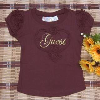 [BW] Kids Girl Shirt Top Guess Embroided