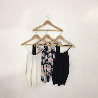 Sleeveless Floral and Plain