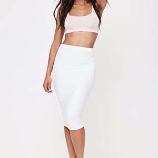 White Midi Skirt BRAND NEW