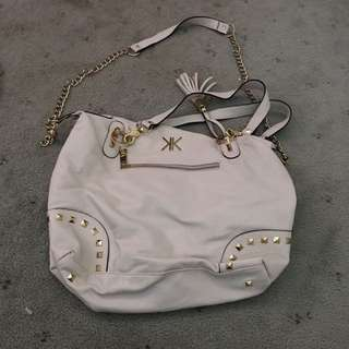 Kardashian Kollection White Handbag