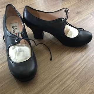 Black Leather Pumps Size 38