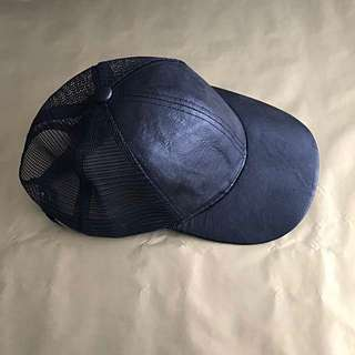 Ally Fashion Hat - Black Faux Leather