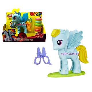 MLP MY LITTLE PONY PLAY CLAY DOH DOUGH STYLING SALON TOY FIGURES