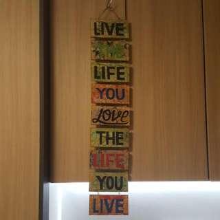 Hanging Art Decoration Quote Paint Wood Signage Banner