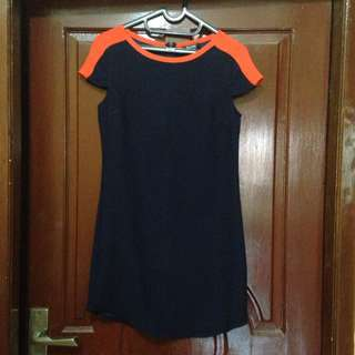 Zalora Navy Basic Dress