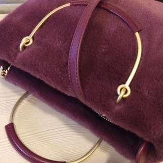 Charles & Keith Fur Sling Bag