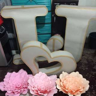 Customized Letter Standees