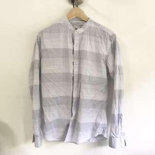 Korean Collarless Shirt