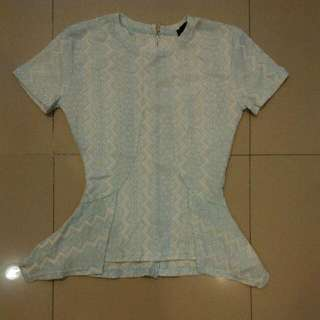 Mds Blue Lace Top Sz Xs