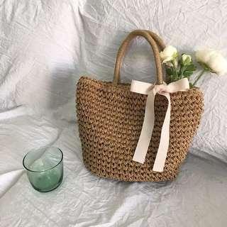 夏天 沖繩海島 編織包