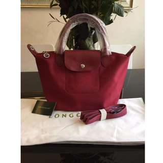 Longchamp Neo Maroon Small Bag (New, Genuine and On Hand for Shipping)