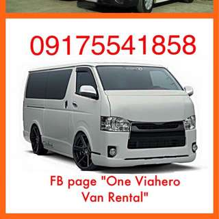 Van for Rent Van For Hire