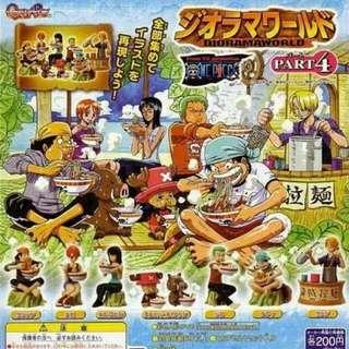 One Piece 海賊王 食拉麵 扭蛋 共7款